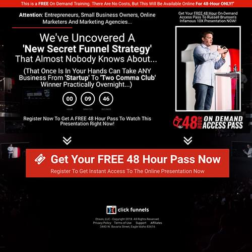 secret sales funnel strategy